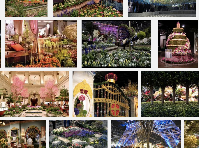 The Philadelphia Flower Show. A quick Google search and you'll see the beauty!