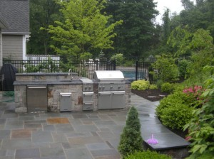 Outdoor Kitchen by Winterberry Gardens