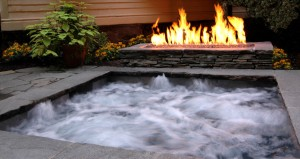Stone Outdoor Spa_Hot tub