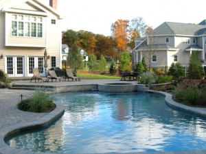 Outdoor pool by Winterberry Gardens
